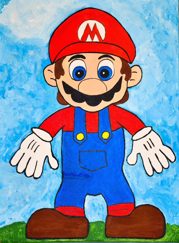 Mario - pre-traced canvas