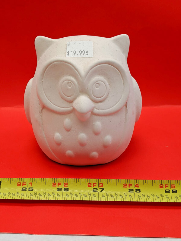 DIY Owl figurine sculpture to paint for kids Art Craft