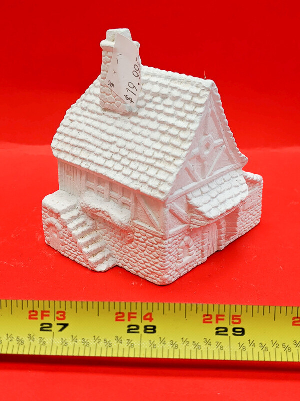 House figurine to paint. Paint your own DIY plaster figurine Art Craft activity