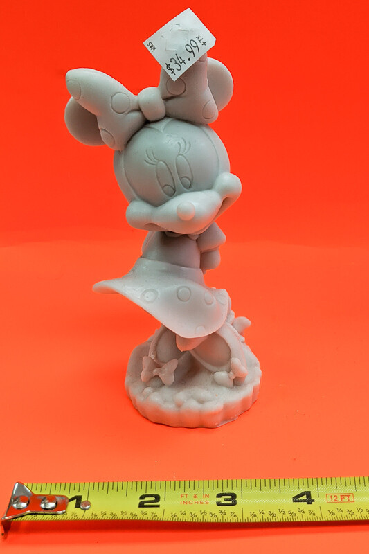 Minie Mouse figurine to paint. Paint your own DIY plaster figurine Art Craft activity