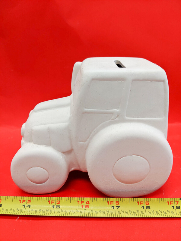 Big Car piggy bank figurine to paint. Paint your own DIY plaster figurine Art Craft activity.
