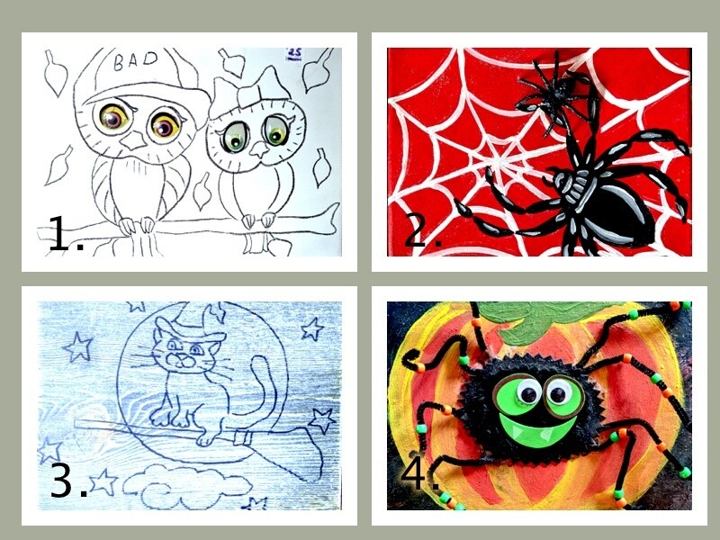 Halloween themed Party in a Box or just paint at home art sets