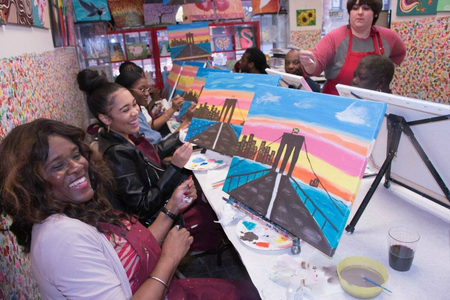 Virtual Private Painting Event for SIMONS FOUNDATION's team
