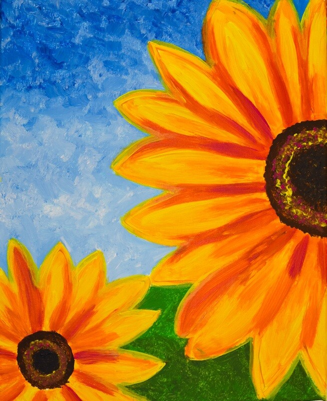 SUNFLOWER PAINT & SIP KIT