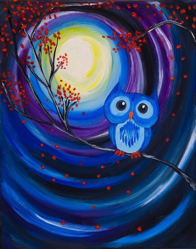 NIGHT OWL PAINT & SIP KIT