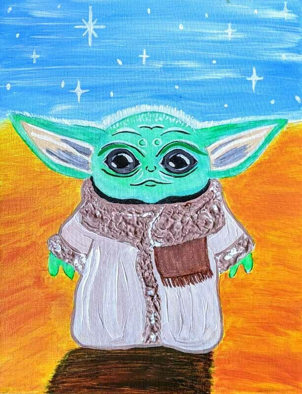 BABY YODA PAINT & SIP KIT