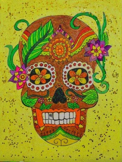 DAY OF THE DEAD (Dia de los Muertos) PAINT & SIP KIT
