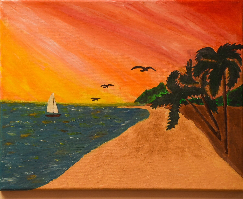 SUNSET ON A BEACH PAINT & SIP KIT