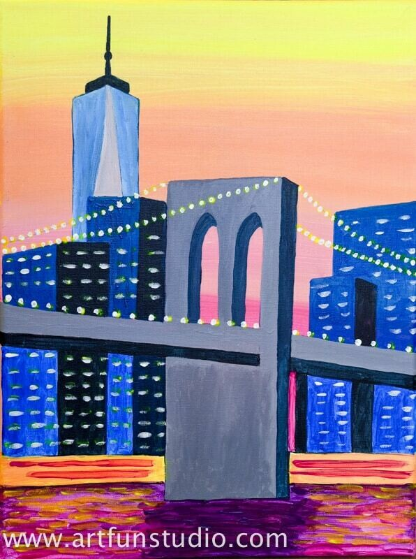 MANHATTAN SKYLINE PAINT & SIP KIT