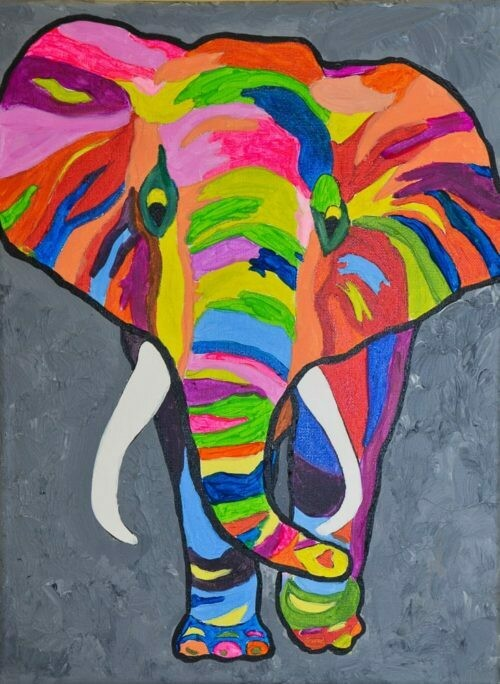 COLORFUL ELEPHANT PAINT & SIP KIT