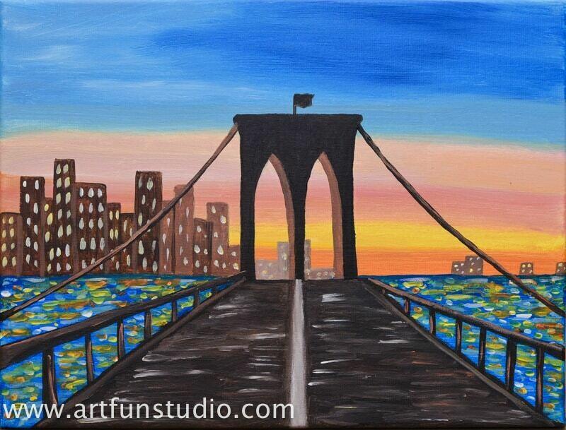 THE BROOKLYN BRIDGE PAINT & SIP KIT