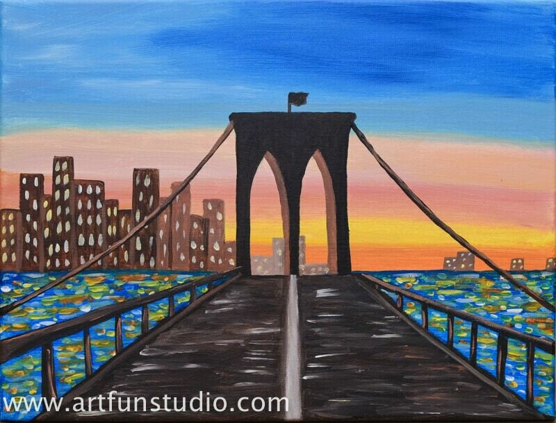THE BROOKLYN BRIDGE PAINT & SIP KIT
