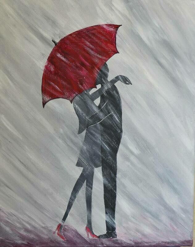 LOVE IN THE RAIN PAINT & SIP KIT