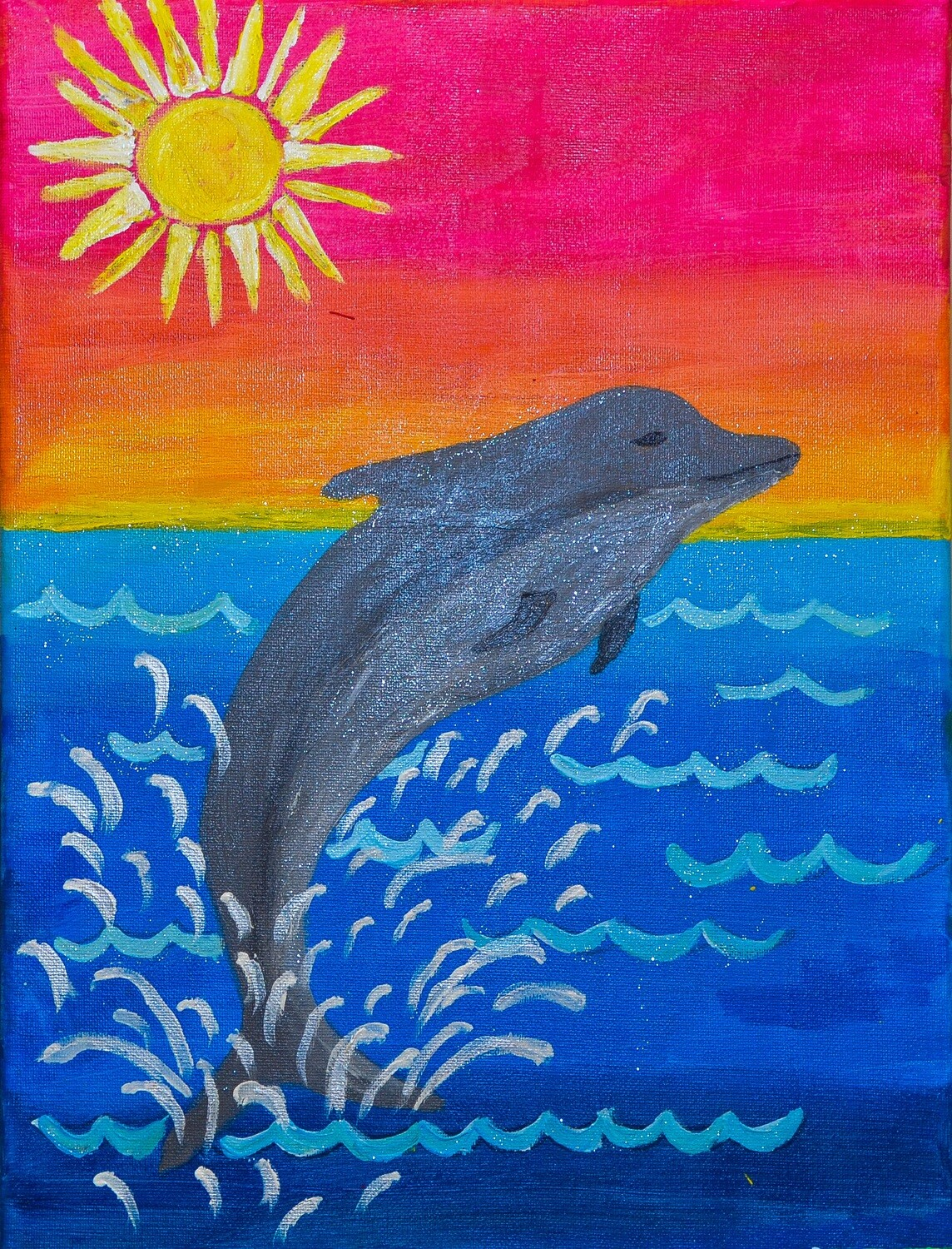 JUMPING DOLPHIN PAINT KIT