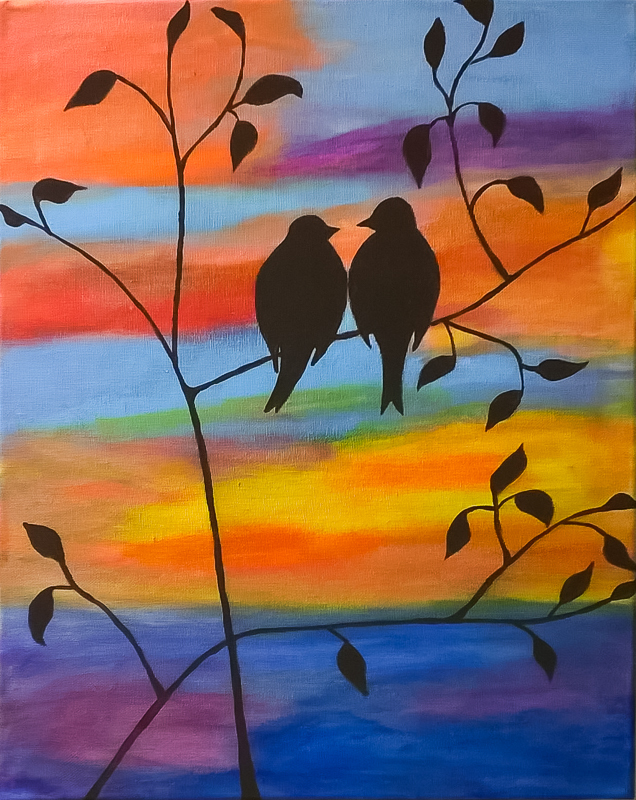 LOVEBIRDS PAINT AND SIP KIT