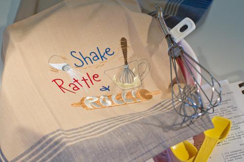 Shake, Rattle & Roll Dishtowel