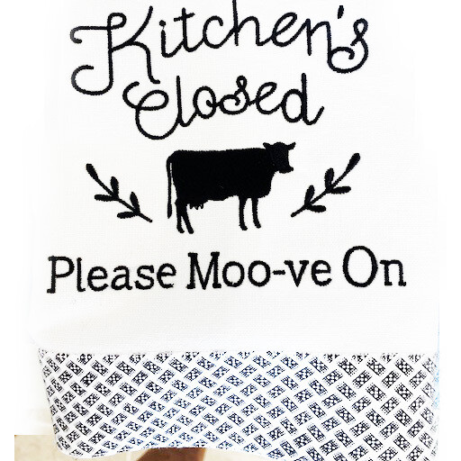 Kitchen's Closed - Please Moo-ve On Apron