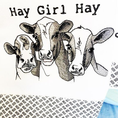 Hay Girl Hay Dish Towel