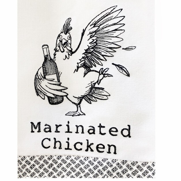 Marinated Chicken Dish Towel