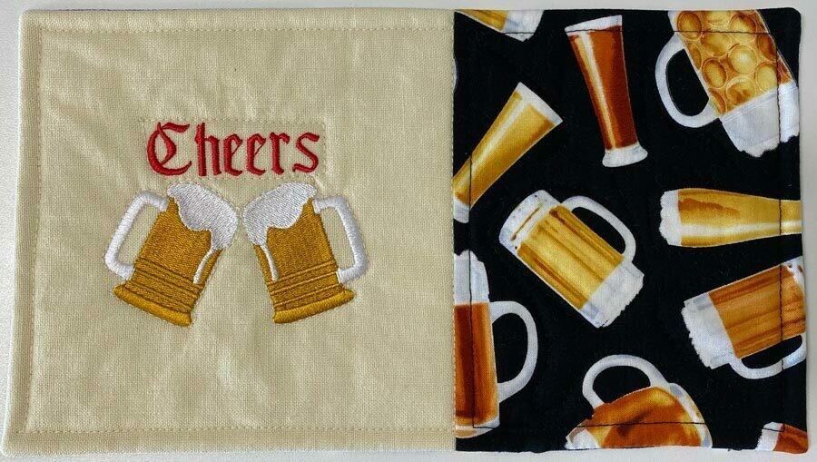 Beer Lovers Mug Rug