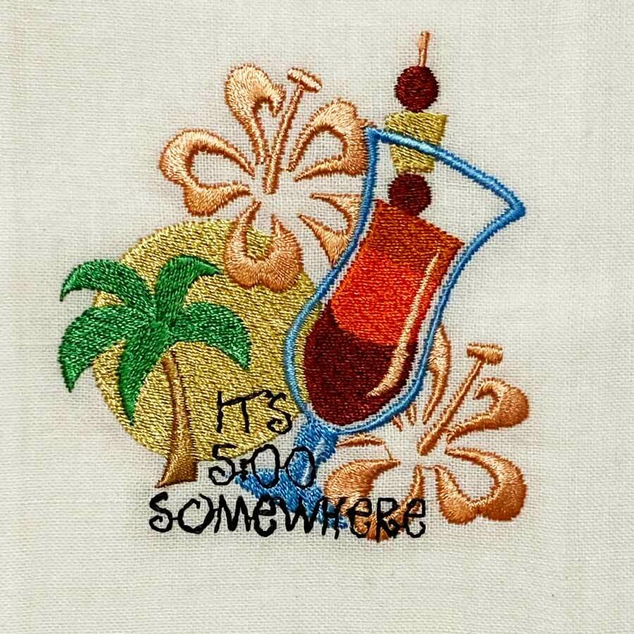 It's 5 O'clock Somewhere Guest Towel