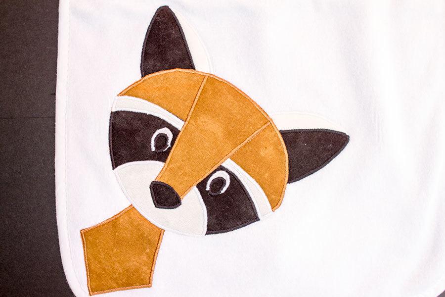 Raccoon Burp Cloth