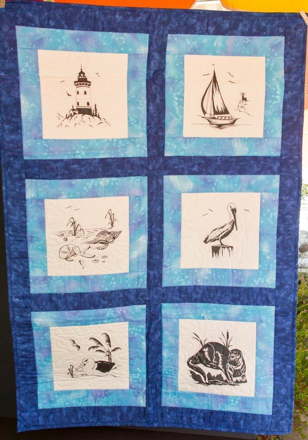 Quilted Nautical Themed Wall Hanging