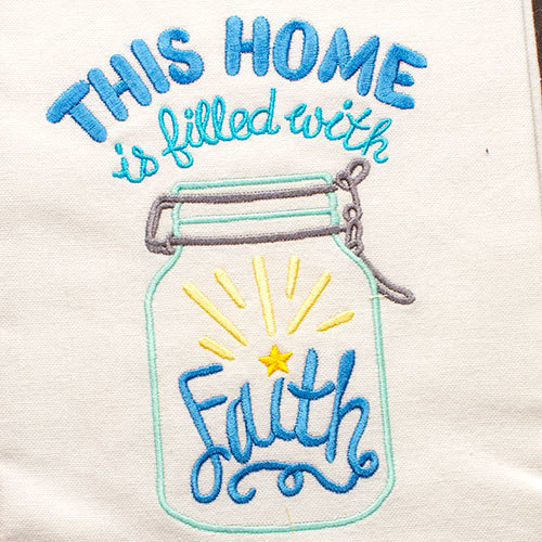 This Home Is Filled With Faith (Hand Towel)