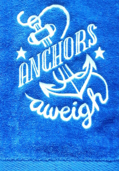 Anchors Aweigh Hand Towel