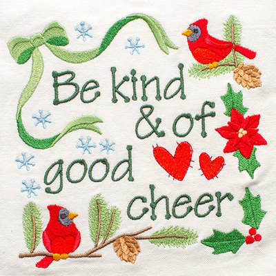 Be Kind And Of Good Cheer (Hand Towel)