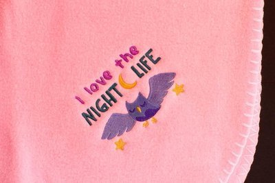 I Love The Night Life Owl Baby Blanket