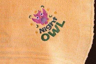 Night Life Owl Baby Blanket