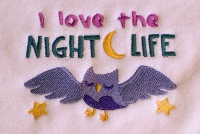 I Love The Night Life Baby Burp Cloth