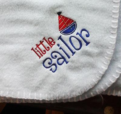 Little Sailor Baby Blanket