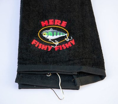 Here Fishy Fishy Sport Towel