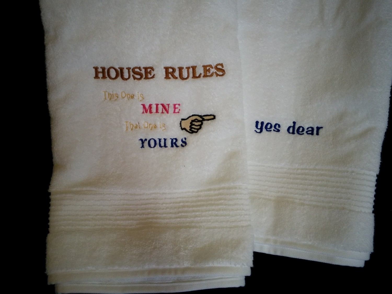 House Rules Bath Towels
