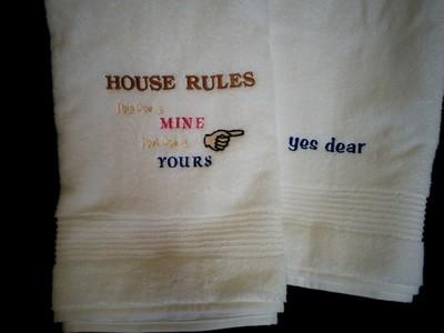 House Rules Bath Towels