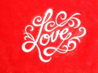 LOVE Hand Towel