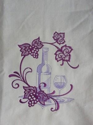 Wine Bottle Kitchen Towel