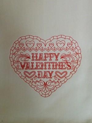 Happy Valentine Day Dishtowel