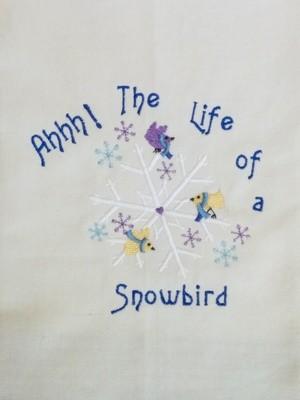 Snow Bird Dishtowel