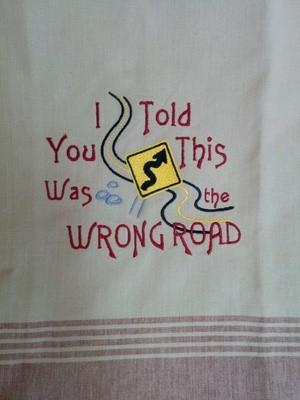 Wrong Road Dishtowel