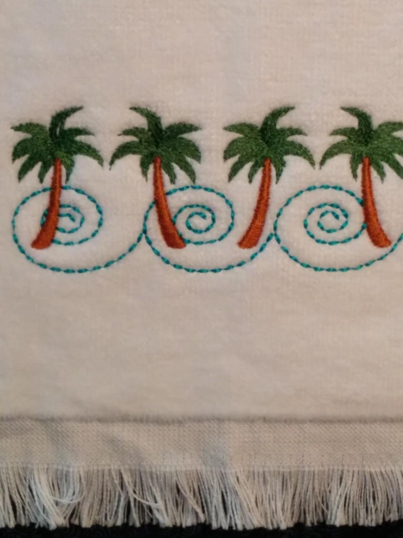 Palm Trees Fingertip Towel