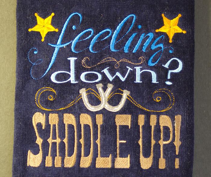 Feeling Down - Saddle Up Hand Towel