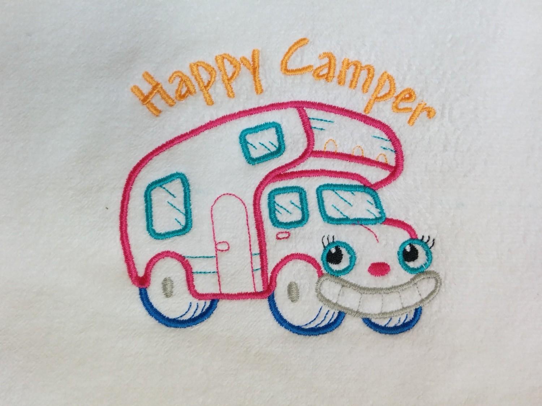 Happy Camper Hand Towel