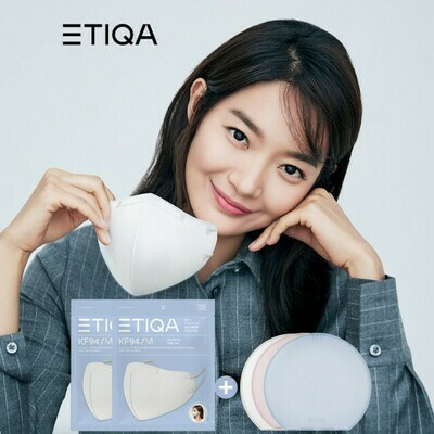 **SPECIAL SALE-100pcs** ETIQA ROUND BASIC MASK WHITE-MEDIUM  (Official Distributor)