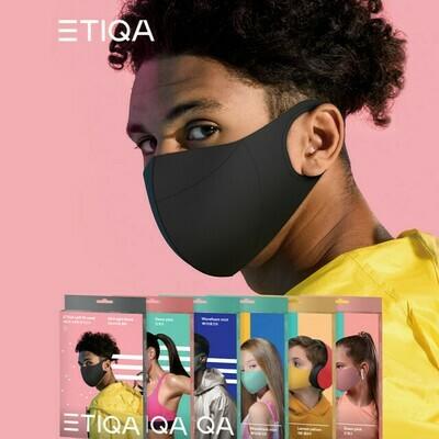ETIQA SOFT FIT MASK BLACK LARGE (REUSABLE) 에티카 소프트 핏 마스크 블랙 라지 (Official Distributor)