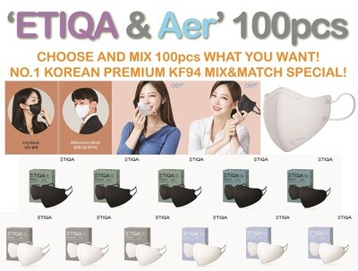 ETIQA or AER?  #1 KOREAN KF94 MASK! ETIQA KF94 & AER KF94 100pcs MIX&MATCH SPECIAL!