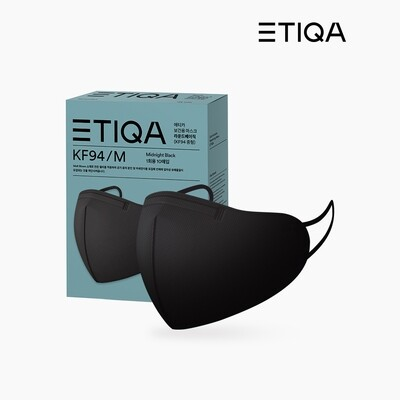 **SPECIAL SALE-100pcs** ETIQA KF94 ROUND BASIC MASK BLACK-MEDIUM (Official Distributor) (PREORDER/SHIP FROM 11/27)