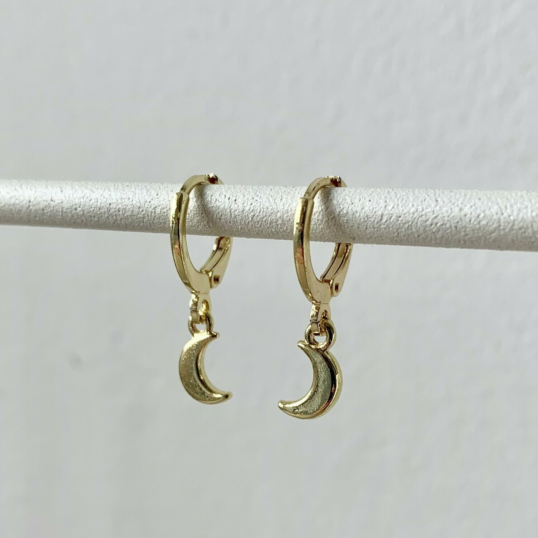 Tiny moon oorbellen goud